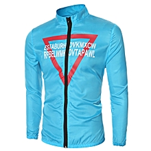 Ultralight Triangle Print Sun Protection Outerwear - Blue