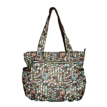 Waterproof Multi Color Print Diaper Bag With Pouch