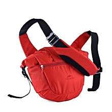 8L Unisex Outdoor Messenger Bag Multifunctional Waterproof Bag(Red)