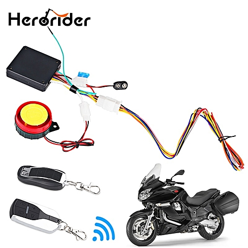 12V Motorcycle Alarm Moto Anti-theft Security Alarm System Scooter 125db  Remote Control Engine Start Keyless Entry Anti-line Cut BLESS