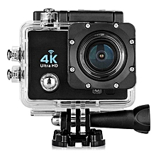 "Q6 4K 16MP 2.0"" HD LCD Display Mini Video DV WiFi Action Sports Camera -- 30M Waterproof Loop Recording Full HD 1080P 170 Degree Wide-angle HDMI Micro USB TV Output (Black) JY-M"