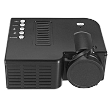 UC28B Portable Home Multimedia Cinema Theater Mini LED Projector Black