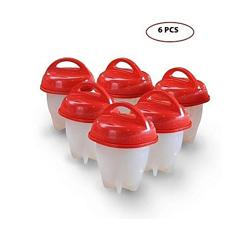 6PCS Egglettes Egg Cooker - Boiled Eggs without the Shell