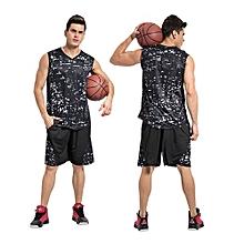 Customized Men's Basketball Training Sports Jersey Clothing Shirts Shorts Uniform-Black(1608)