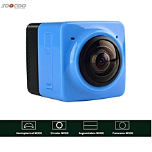 LEBAIQI Soocoo Cube 360 Wifi Action Camera (Panaromic, Fish Eye, VR) Blue