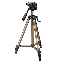 "WT3150 50"" Aluminum Tripod Stand with Carrying Bag for DSLR Camcorder Camera (Gold)"