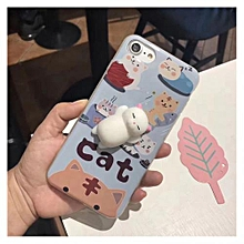 Cute Squishy 3D Lazy Cat Soft Silicone Back Case Cover for iPhone 6/6s 4.7inch-Multicolor