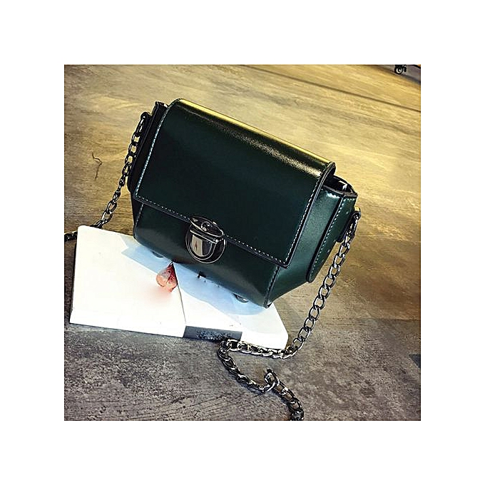 a9ffc3ceb819 Meibaol Store Fashion Women Shoulder Bag Chain Strap Messenger Bags  Handbags Metal Buckle GN-Green