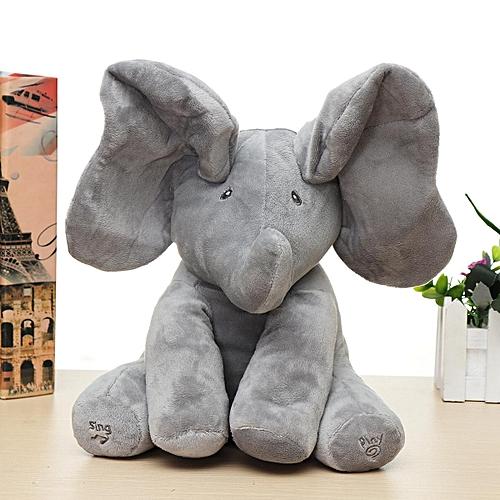 Buy Generic Baby Cute Peek A Boo Elephant Plush Toy Singing Stuffed