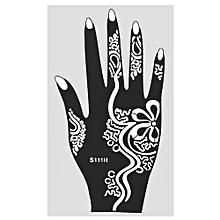 4Pcs India Henna Temporary Tattoo Stencils For Hand Leg Arm Feet Body Art Decal S111R