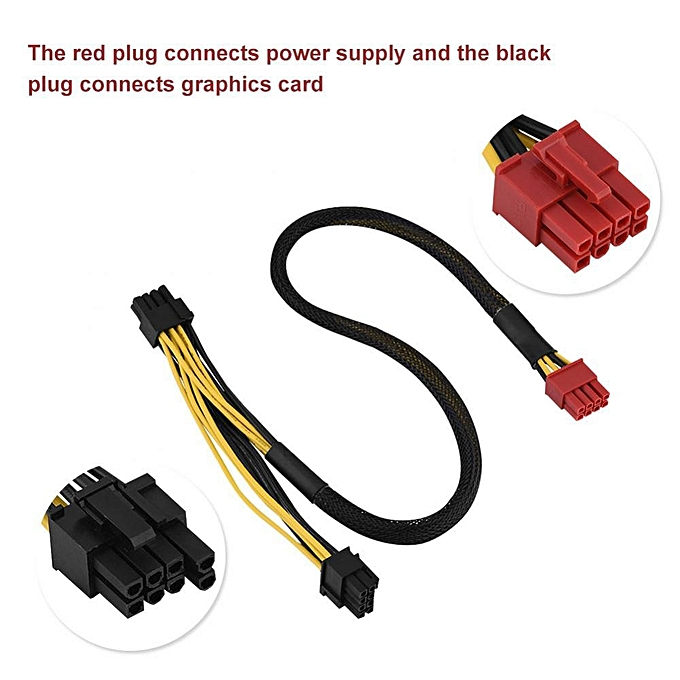 Graphics Card Power Cable 50cm 8-Pin To Dual 8-Pin PCI Express Graphics  Card Power Supply Cable for Antec