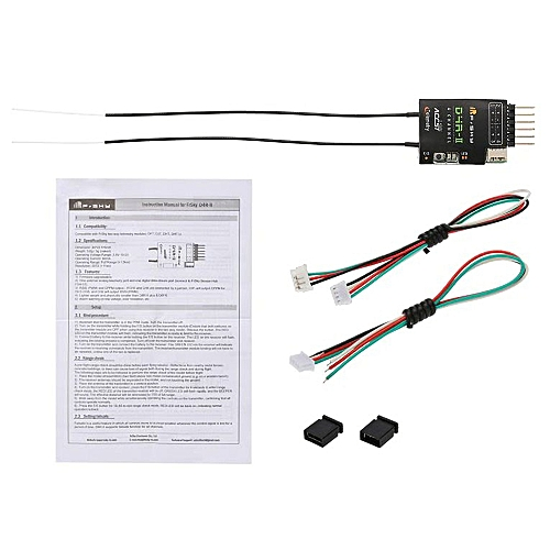 FrSky D4R-II 2 4G 4CH Telemetry Receiver for Taranis X9D Plus Transmitter  Black