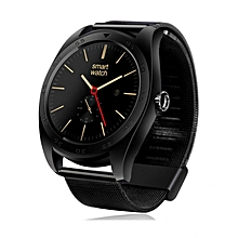 K89 - Bluetooth Smart Watch With Three-axis Accelerometer Steel Band 300mAh - Black