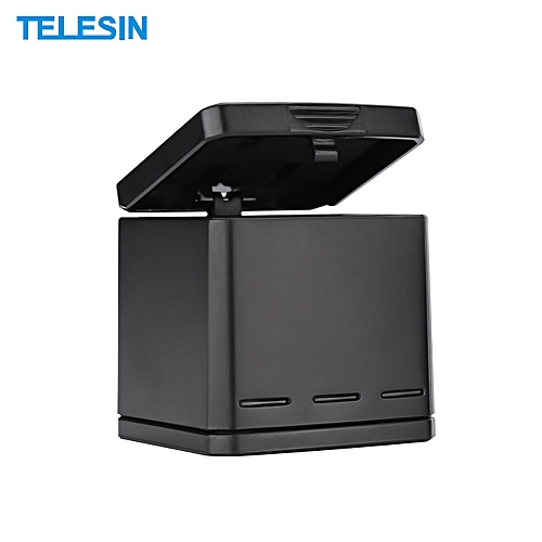 newest collection 9e2fc d3019 TELESIN 2 In 1 Portable Battery Storage Charging Box Case Holder Triple  Charger Battery Charging Box with Indicator Lights Max. Capacity 3  Batteries ...
