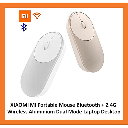 506dfb9df6d Generic XIAOMI Mi Portable Mouse Bluetooth + 2.4G Wireless Aluminium Dual  Mode LBQ