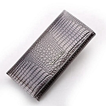 Women Wallets Genuine Leather Wallet Female Purse Long Coin Purses Holders Wallets And Purses Grey