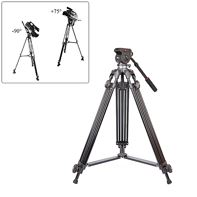 JY0508A 1 5m Foldable Telescoping Aluminum Alloy DSLR Camera Camcorder  Video Tripod with Fluid Drag Head Padded Bag