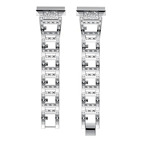 Buy Generic Luxury Alloy Crystal Watch Band Wrist Strap With Metal ...