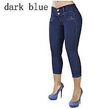 New Style Fashion Elastic Women Highwaisted Casual Pants Skinny Trendy Jeans 4 Colors Plus Size