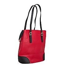Red Hobo Style Handbag