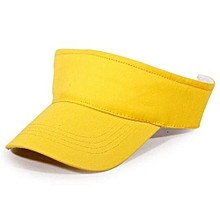 2016 Cotton Empty Top Hat Children Kids Solid Sun Hat Visor Hat Free Customized Wholesale And Retail Group Advertising Cap(Yellow)