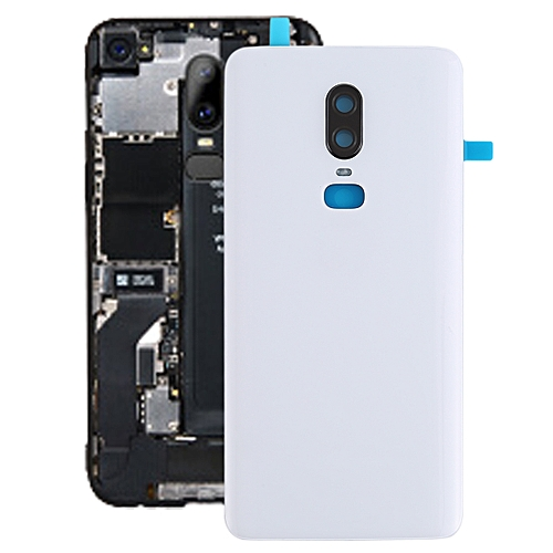 new style f63ee a5c38 Battery Back Cover for OnePlus 6(White)