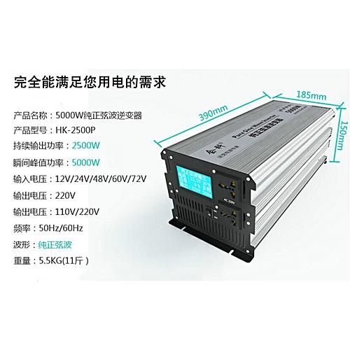 2500W(PEAK5000W) LCD Pure Sine Wave Power Inverter DC 12V To 110V 120V AC