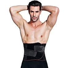 Slimming Belt Belly Men Body Shaper Corset Abdomen Tummy Slimming Shapewear Waist Trainer Cincher Slim Girdle - Black