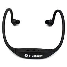Bluetooth Headset Headphone HandsFree Fashion  Bluetooth High-fidelity Sports Wireless Headphones S9 - Black