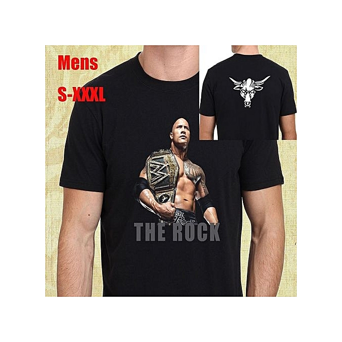 The Rock Dwayne Johnson Mens T Shirt Cotton Men Printed Short Sleeves Funny Graphic Tees