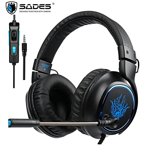SADES R5 PS4 Headset Gamer 3 5mm Plug Game Headsets PC Gaming Headphones  Stereo Earphones with Microphone Mic for Computer New Xbox One Mobile Phone