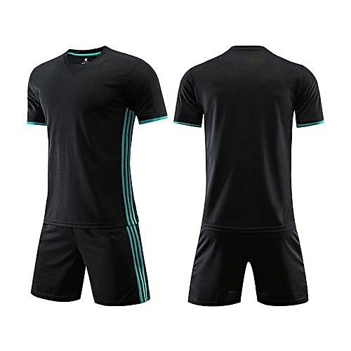 Longo Customized Men s World Cup Football Soccer Team Training Sports Jersey  Set-Black 75a5172cd