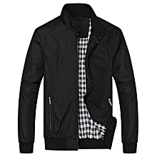 Men Casual Loose Jacket - Black