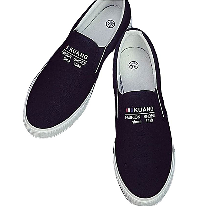 b280d73847e7 Generic Summer Male Casual Pure Color Slip On Canvas Shoes   Best ...