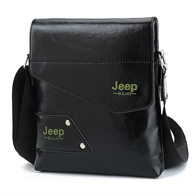 bc413c801ac HENGSHENG Fashion mens shoulder bag with high quality pu leather men  messenger bags of JEEP men
