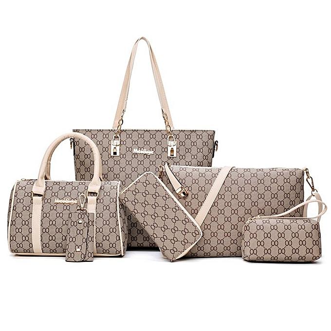 b41e3075178 6PCS/SET Korean Fashion Women Composite Bag Female Ladies Fashion Shoulder  Bag white