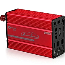 G400 Car Power Inverter Charger AC 220V 400W USB 2.1A
