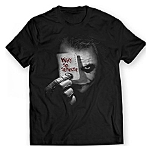 Men's Fashion T-Shirt   DC The Joker Why So Serious?  Short Sleeve T Shirts Casual Summer  Dress Printed Tops