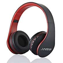 Best-selling LH-811 Digital 4 In 1 Multifunctional Wireless Stereo Bluetooth 4.1 + EDR Headphone Earphone Headset & Wired Earphone With Mic MP3 Player MicroSD / TF Music FM Radio Hands-free For Smart Phones Tablet PC Notebook  Red