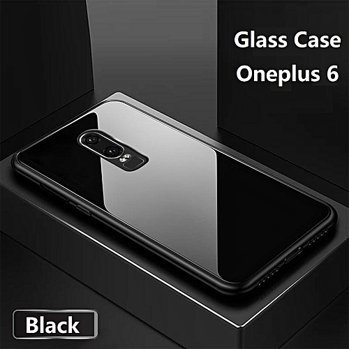 low priced 4e0f2 f1be5 For Oneplus 6 Glass Case HD Coverage Full Cover Tempered Glass Black Casing  For Oneplus 6 Housing Shell 320769 c-0 (Color:Main Picture)