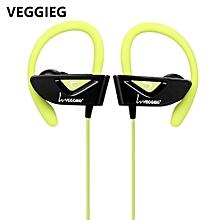 V8 Sports Bluetooth Ear Hook Earphones - Green