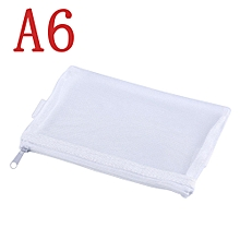 Exam Pencil Case Transparent Mesh Zipper Stationery Bag School