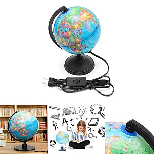 World Earth Globe Atlas Map Geography Education Gift w/ Rotating Stand LED  light
