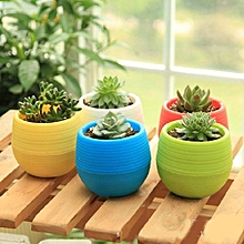 Office Decor Planter Plastic Plant Flower Pots - White