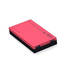 CLOY-8: Pink 8,000mAh Portable Power Bank, Charges 2 devices Simultaneously