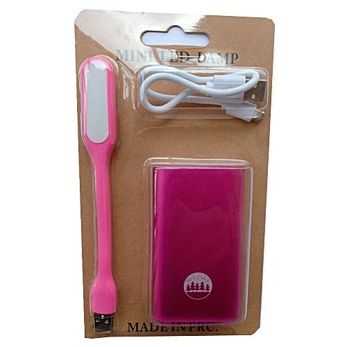 5200mAh power bank-Pink, get one free USB LED lamp