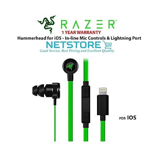 Razer Hammerhead for iOS Lightning Port Gaming Earphone -  RZ04-02090100-R3A1 (Black) WANKAI