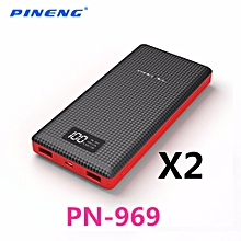 (BUNDLE)2 XPINENG PN-969 PN969 20000MAH POWER BANK (BLACK) BGmall