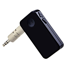 Portable A2DP Wireless Bluetooth 3.0 Handsfree Car Home Audio Music Streaming Receiver Adapter With 3.5 Mm Stereo Output,Black