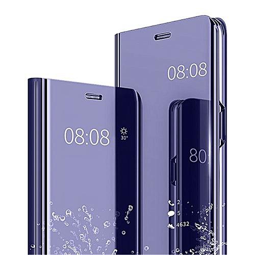 dca14addecb50e Generic Samsung Galaxy S10 Plus Plating Mirror Leather Case - Purple Blue